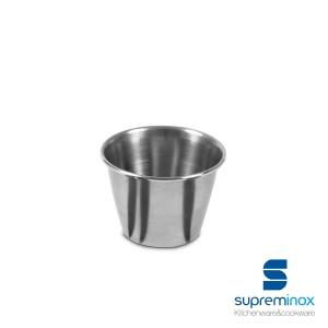 mini tasse à sauce en acier inoxydable