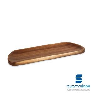 planches en bois d'acacia ovale