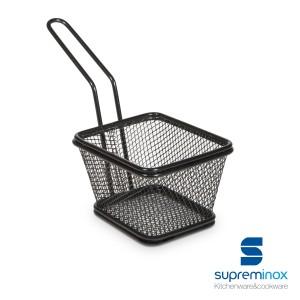 Basket chips cuadrada negra. Tapas
