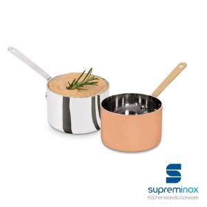 mini casserole en acier inoxydable