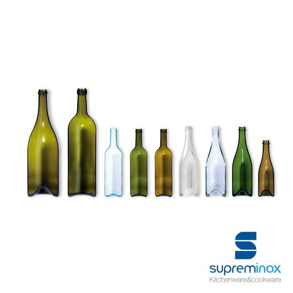 bouteilles en verre pour tapas 7,5 x 29 cm.