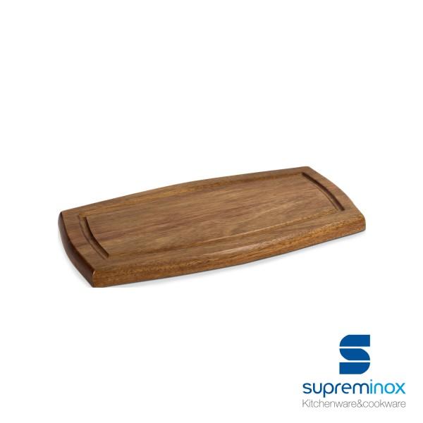 planches en bois d'acacia rectangulaire