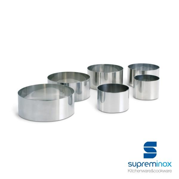 moules anneaux ronds inox pour dressage d'assiettes