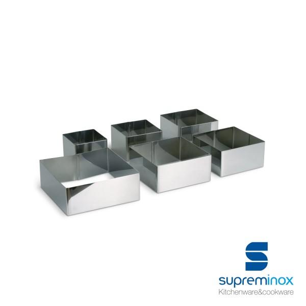 moules anneaux carré inox pour dressage d'assiettes