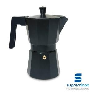 caffettiera caffè espresso teflon nera