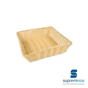 cestino poly-rattan quadrato plastificato