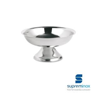 coppa gelato bassa in acciaio inox