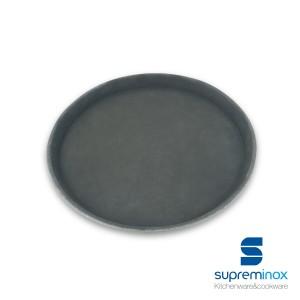 vassoio antiscivolo nero rotondo