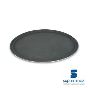 vassoio antiscivolo nero ovale