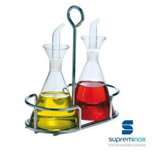 set olio & aceto bottiglie di vetro 2 pezzi - serie garden