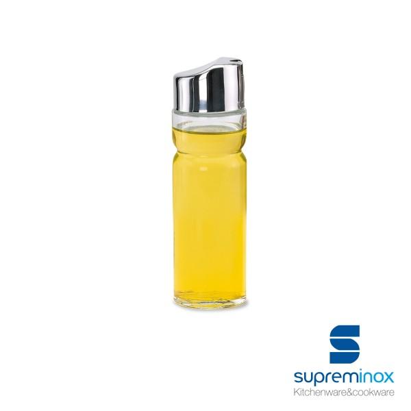 bottiglia in vetro per aceto con coperchio in acciaio inox