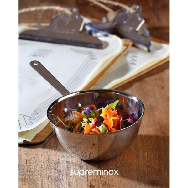 mini wok acciaio inossidabile