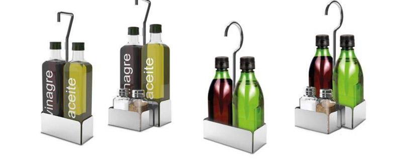 Soportes de Acero Inox para Aceite y Vinagre de Supreminox
